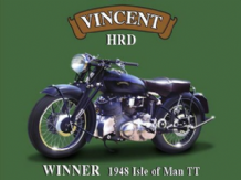 Vincent HRD Motorbike - Metal Wall Sign (3 sizes)